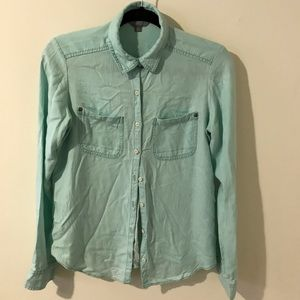 Rubbish Teal Rayon Button-up